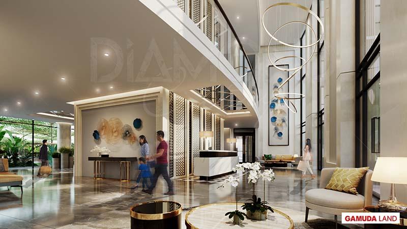 lobby sang trong diamond centery celadon city tan phu