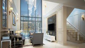 Phòng khách duplex Emerald Celadon City